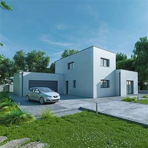 Modèle de maison 3D à 360°