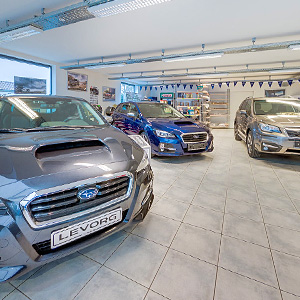 visite virtuelle photo showroom concessionnaire subaru